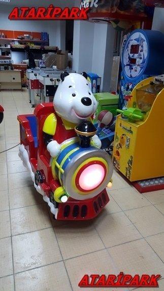 Jetonlu Oyuncak Panda Tren
